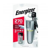 Torch Energizer LED Vision HD Metal 270 Lumens IPX4 with 3 AAA Batteries. With strobe function. Silver