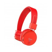 Wireless Stereo Headphone Hoco W19 Easy Move V4.2 with Microphone and Control Buttons Red