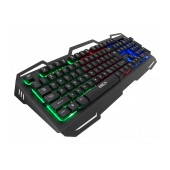 Wired Keyboard iMICE AK-400 USB with Rainbow LED Effect, 104 Keys Layout Multimedia and Gaming. Black