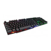 Wired Keyboard iMICE AK-600 USB, with Rainbow LED Effect, 104 Keys Layout. Multimedia. Black