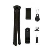 Selfie Stick Tripod Bluetooth LDX-666 for Cameras and Mobile Phones Black Length: 25cm