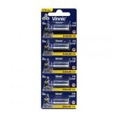 Battery Alkaline Vinnic L828F size A27/27A/CA22/EL812/EL812/G27A/GP27A/L828/MN27 12V Psc. 5