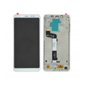 LCD & Digitizer Xiaomi Redmi Note 5 with Frame White (Dimension:154mm) Type A