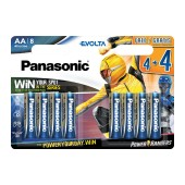 Battery Panasonic Panasonic Evolta LR6EGE/8BW Power Rangers size AA 1.5 V Psc. 8