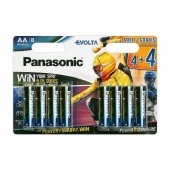 Battery Alkaline Panasonic Evolta LR03EGE/8BW Power Rangers size AAA 1.5V Pcs, 8