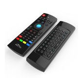 Wireless Keyboard and Remote Media-Tech MT1422 3 in 1 for Smartphone, Tablet, PC, SmartTV, TV Box Black