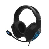 Stereo Headphone Media-Tech COBRA PRO YETI MT3599 3.5mm for Gamers with Microphone, Volume Control and Light Illumination Black