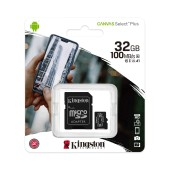 Micro SDHC 32GB Kingston Canvas Select Plus + Adapter SDCS2/32GB