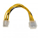 Adapter with Power Cable Akyga AK-CA-08 P8 8 pin Female / P8 8 pin Male P4+4 20cm