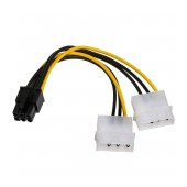 Adapter with Power Cable Akyga AK-CA-13 2x Molex Male / PCI-E 6 pin Male 15cm