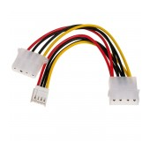Adapter with Power Cable Akyga AK-CA-14 Molex Male / Molex Female / mini Molex Female 2x 15cm