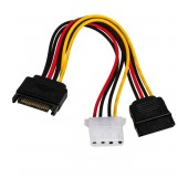 Adapter with Power Cable Akyga AK-CA-32 SATA Male / Molex Female / SATA Female 2x 15cm