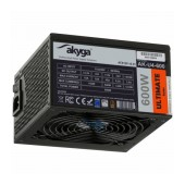 Power Supply ATX Akyga AK-U4-600 600W P4+4 PCI-E 6 pin 6+2 pin 6x SATA APFC 80+ bronze FAN 12cm