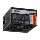 Power Supply ATX Akyga AK-U4-500 500W P4+4 PCI-E 6 pin 6+2 pin 6x SATA APFC 80+ bronze FAN 12cm