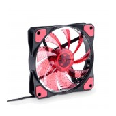 Case Fan Akyga AW-12C-BR 120mm Molex / 3-pin with 15 LED Red