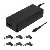 Laptop Power Supply Akyga AK-NU-13 18.5V / 19V / 19.5V / 20V 4.74A 90W Universal with 6 plugs 1.2m