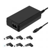 Laptop Power Supply Akyga AK-NU-12 18.5V / 19V / 19.5V / 20V 3.5A 65W Universal with 6 plugs 1.2m