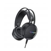 Stereo Gaming Headphone W100 Touring 3.5mm with Microphone, Volume Control and LED Light Black