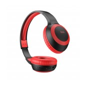Wireless Stereo Headphone Hoco W29 Outstanding Red with Microphone, Micro SD, AUX port and Control Buttons