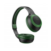 Wireless Stereo Headphone Hoco W29 Outstanding Green with Microphone, Micro SD, AUX port and Control Buttons