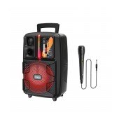 Portable Speaker Trolley Hoco BS37 Dancer Black 15W BT V5.0 TWS with Microphone. Supports FM USB, AUX