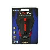 Wired Mouse Noozy SM-26 USB 3D with 3 Buttons and 1000DPI Black-Red