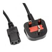 Power Cord Noozy UP-30 3pin to UK plug 1.8m. Black