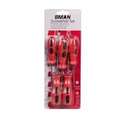 Screwdrive Bossman Set 5 Pcs Magnetic Red