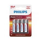 Battery Alkaline Philips Power Alkaline LR6 size AA 1.5 V Psc. 4