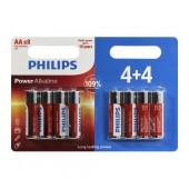 Battery Alkaline Philips Power Alkaline LR6 size AA 1.5 V Psc. 4+4