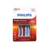 Battery Alkaline Philips Power Alkaline LR03 size AAA 1.5 V Psc. 4