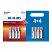 Battery Alkaline Philips Power Alkaline LR03 size AAA 1.5 V Psc. 4+4