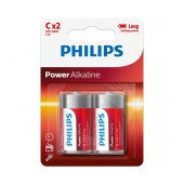 Battery Philips Power Alkaline LR14 size C 1.5 V Psc. 2