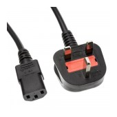 Power Cord IEC C13 CEE 7/7 250V/50Hz UK plug 1.5m OEM