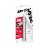 Torch Energizer Metal LED Light 60 Lumens with 2 AA Batteries. Silver