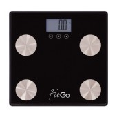 Digital Scale FitGo SA-B89 Saves up to 10 User Profiles, Information for Weight, Fat, Mass. Compatible with Android