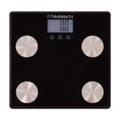 Digital Scale Teledoctor24 SAB89 Saves up to 10 User Profiles, Information for Weight, Fat, Mass. Compatible with Android