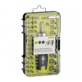 Screwdriver Goobay Precision 42 pcs Set. Star, Philips, Triangle. with Carrying Case and Removal Mechanism Black-Green