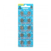 Buttoncell Vinnic LR1121F AG8 LR55 Pcs. 10 with Perferated Packaging