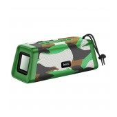 Wireless Speaker Hoco BS35 Classic sound 3X2W Camouflage Green V5.0 TWS 1200mAh, Microphone, FM, USB & AUX Port and Micro SD