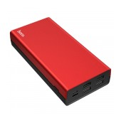 Power Bank Hoco J66A Fountain 20000mAh with 4 USB Ports 2A and LED Indicators Red