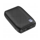 Power Bank Hoco J53 Exceptional 10000mAh USB 2A and LED Digital Indicator with Retardant Material Black