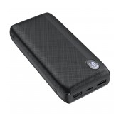 Power Bank Hoco J53 Exceptional 20000mAh 2 X USB 2A and LED Digital Indicator with Retardant Material Black