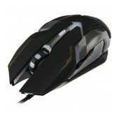 Wired Mouse iMICE V6 Gaming 6D with 7 Buttons, 3200 DPI, Multimedia and LED Lightning. Black-Grey