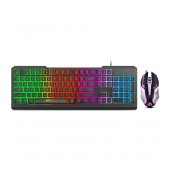Wired Keyboard and Mouse iMICE KM-900 USB with LED Backlight, Multimedia Keys and Gaming. 104 Keys and 6D 3200 DPI Black