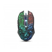 Wired Mouse iMICE X5 Gaming 6D with 6 Buttons, 3600 DPI and LED Lightning. Black