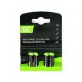 Rechargeable Battery Green Cell GR03 950 mAh size AAA  1.2V Pcs 4