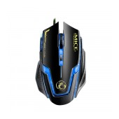 Wired Mouse iMICE A9 Gaming 6D with 6 Buttons, 2400 DPI LED Lightning. Black