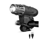 Bicycle Light Ancus 2256 with LED Front Light, 3 Brightness Levels and USB Charging. Black