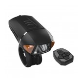 Bicycle Light Ancus EOS450S with LED Front Light and Remote Side Flash, 3 Brightness Levels and USB Charging. Black